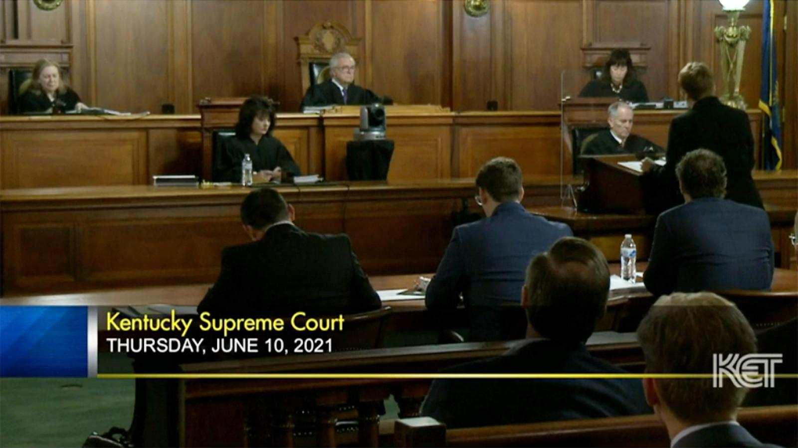 Kentucky Supreme Court hears executive powers cases
